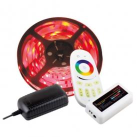 ZESTAW TAŚMA RGB 150 LED, IP20+STEROWNIK, PILOT I ZASILACZ