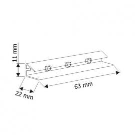 KLIPS LED PVC, ZESTAW 4 PKT.- plastikowa nakładka na szybę