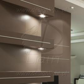 OPRAWA LED SQUARE, ZESTAW 2 PKT- podświetlenie ścian, półek