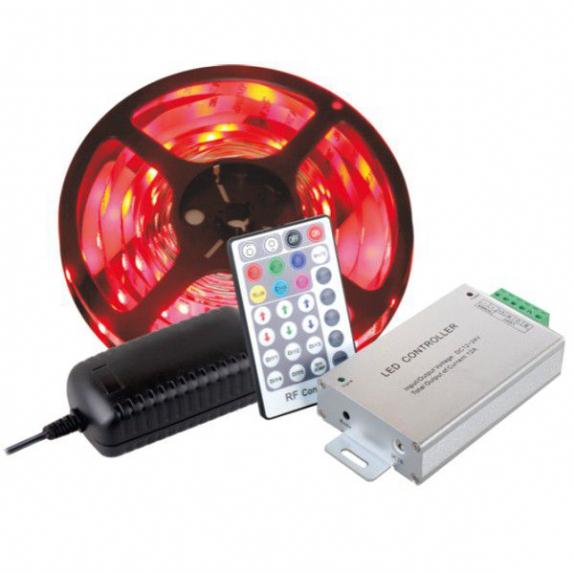 ZESTAW TAŚMA RGB 150 LED IP45- gotowy zestaw rgb