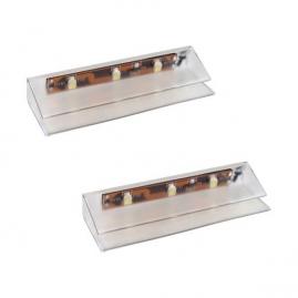 KLIPS LED PVC RGB, ZESTAW 2PKT- nakładka plastikowa do podświetlenia szyby