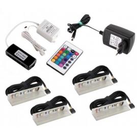 KLIPS LED PVC RGB, ZESTAW 4PKT-GOTOWY ZESTAW