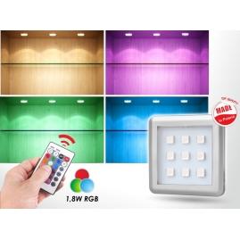 SQUARE RGB 1,8W, OPRAWA  LED, ZESTAW 3PKT