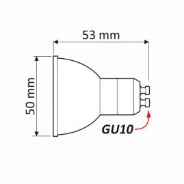 żarówka LED GU10 - Zestaw COSTA wymiary