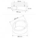 OVAL SKOS  2W, OPRAWA  LED rysunek techniczny