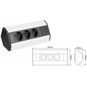 CORNER BOX - Gniazdo meblowe aluminium  230V