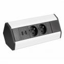 CORNER BOX USB-  Przedłużacz meblowy narożny