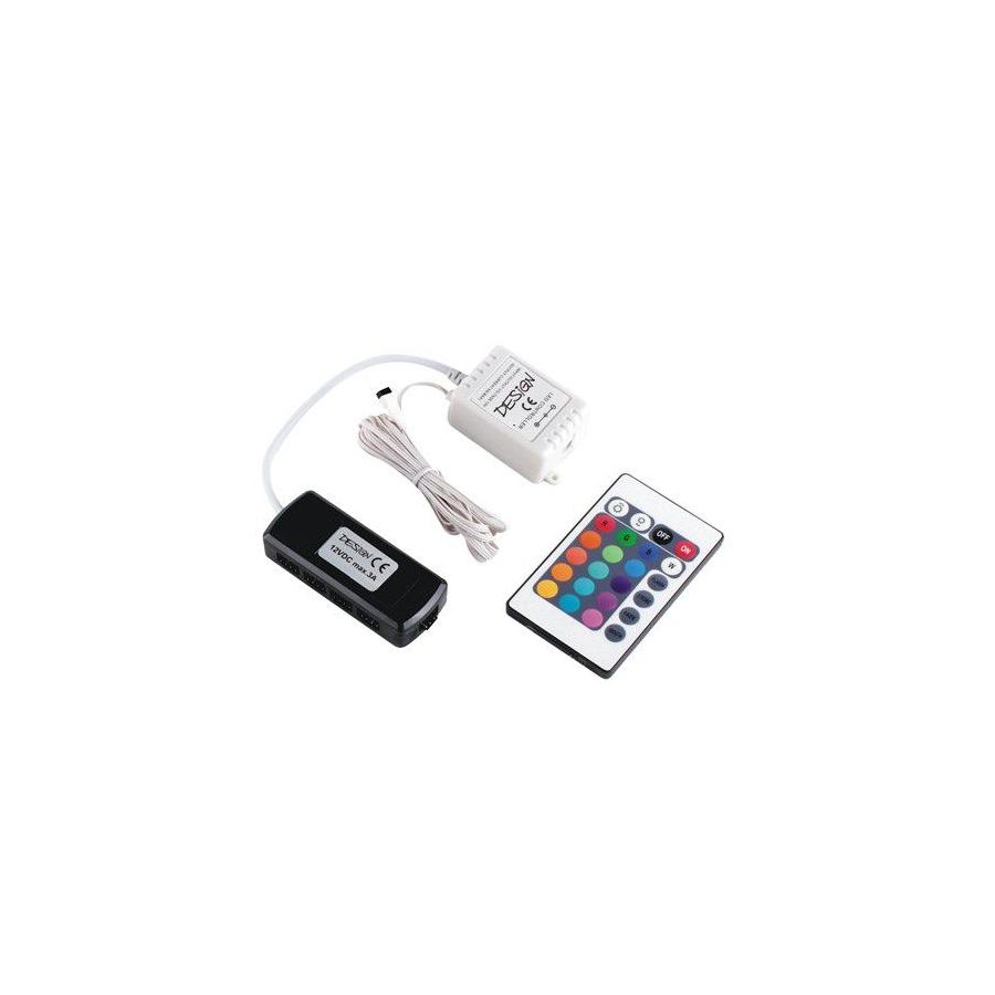 Sterownik LED RGB z pilotem  IR i rozdzielaczem