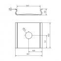 Uchwyt montażowy LINE XL rysunek techniczny