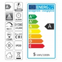 etykieta energetyczna  - żarówka LED GU10  5W- Zestaw COSTA