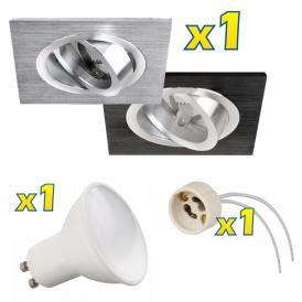 Oprawa sufitowa  + żarówka LED GU10 - Zestaw COSTA