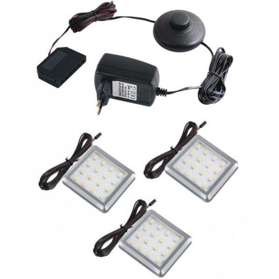 OPRAWA LED SQUARE, ZESTAW 2 PKT- gotowy zestaw Led