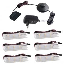 KLIPS LED PVC, ZESTAW 5 PKT.- gotowy zestaw LED