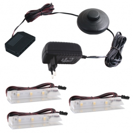 KLIPS LED PVC, ZESTAW 3 PKT.