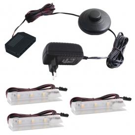KLIPS LED PVC, ZESTAW 3 PKT.- gotowy zestaw Led