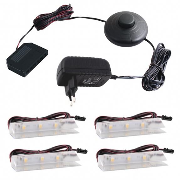 KLIPS LED PVC, ZESTAW 4 PKT.- gotowy zestaw Led