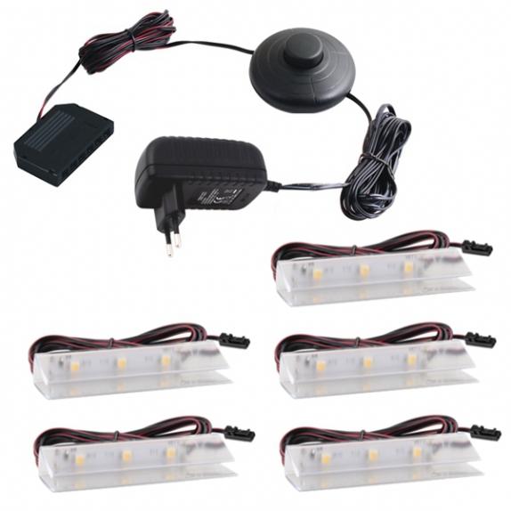 KLIPS LED PVC, ZESTAW 5 PKT.Gotowy zestaw Led