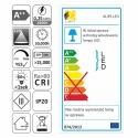 KLIPS LED METALOWY, ZESTAW 4 PKT.- etykieta energetyczna