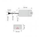 WYŁĄCZNIK ZBLIŻENIOWY rysunek techniczny   IR K1 - 500W 220-240V