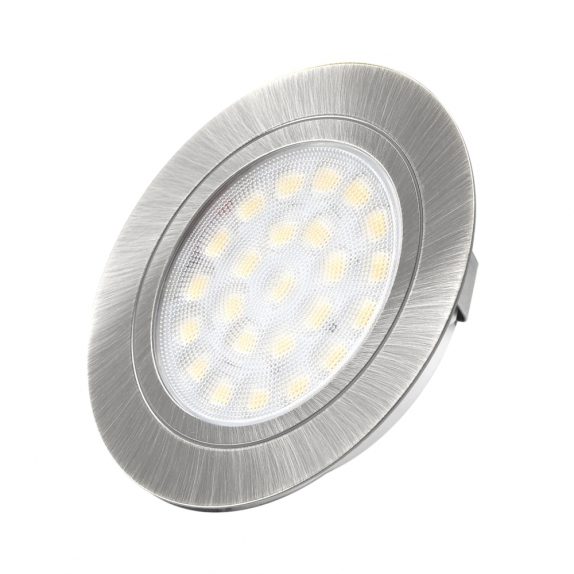 OVAL DO WBUDOWANIA 2W, LED aluminium