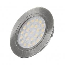 OVAL DO WBUDOWANIA 2W, LED stal drapana