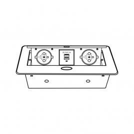 KOMBI BOX Z USB - GNIAZDO MEBLOWE