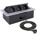 KOMBI BOX - Gniazdo meblowe  aluminium