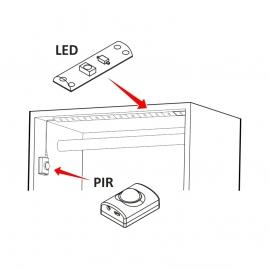 Oświetlenie LED Blix do szafy