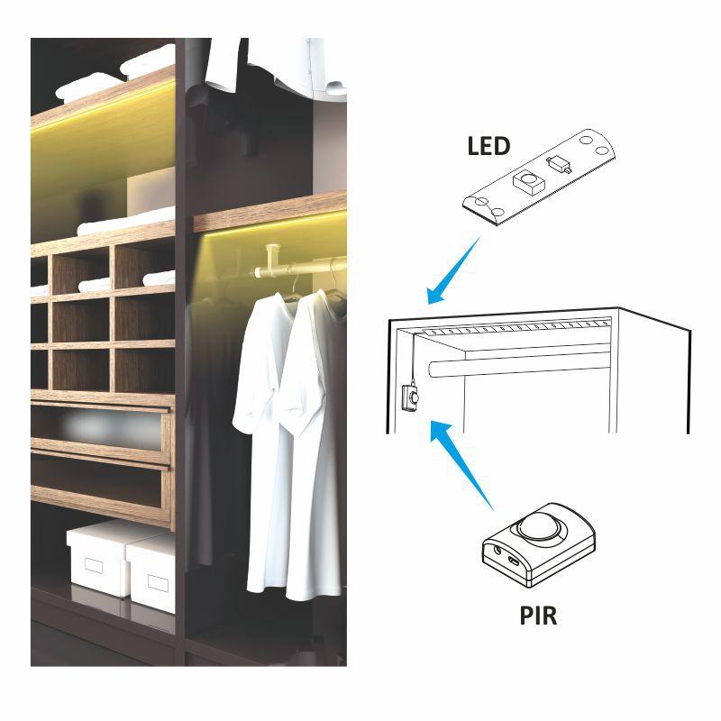 Zestaw BLIX Oświetlenie LED z sensorem ruchu | Design