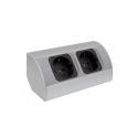 CORNER BOX 2 - Gniazdo meblowe do kuchni Aluminium