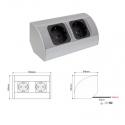 CORNER BOX 2 - Uniwersalne  Gniazdo meblowe do biura Aluminium