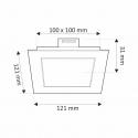 OPRAWA SUFITOWA LED STELLA 6W-rysunek techniczny
