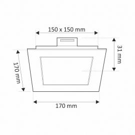 OPRAWA SUFITOWA LED STELLA 12W-rysunek techniczny