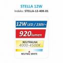 OPRAWA SUFITOWA LED STELLA 12W- dane  energetyczne
