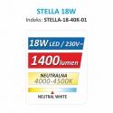 OPRAWA SUFITOWA LED STELLA 18W-dane energetyczne