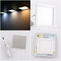 Srebrna, kwadratowa, oprawa LED - Foton. 3W, 12V DC. Oprawa podszafkowa LED.
