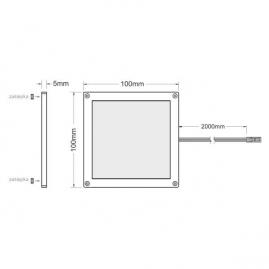 Rysunek techniczny. Oprawa LED - Foton. 3W, 12V DC. Oprawa podszafkowa LED.