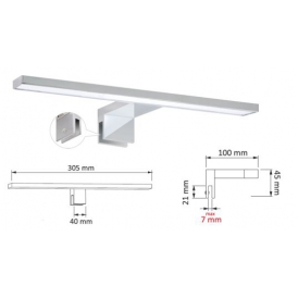 Oprawa LED AMBER MIRROR- oprawa łazieńkowa LED