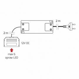 UKŁAD ZASILAJĄCY DO LED 16W z rozdzielaczemI wyłącznikiem