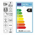 etykieta energetyczna TAŚMA PREMIUM 300 LED IP20 , 30 W Made in Polannd