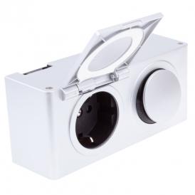 Gniazdo z wyłącznikiem i zasilaczem - MINIBOX  230V