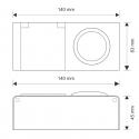 rysunek techniczny -Gniazdo z wyłącznikiem i zasilaczem