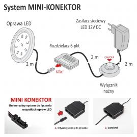 ORBIT XL 3W, podszafkowa oprawa LED - schemat podłączenia