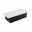 KOMBI BOX Z USB - gniazdo meblowe wpuszczane w blat aluminium