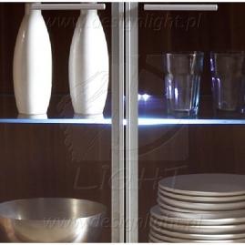 KLIPS LED PVC- podswietlenie półek szklanych. Dostępne barwy swiatła