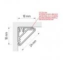 Profil aluminiowy  CORNER LINE 1m