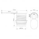 SLIDEBOX USB- gniazdo meblowez USB- rysunek techniczny