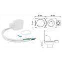 GNIAZDO MEBLOWE łazienkowe IP44 z wyłącznikiem