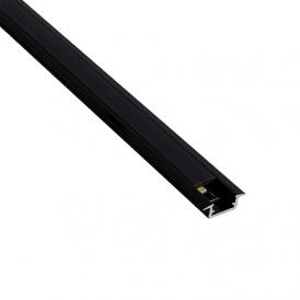 Profil aluminiowy do wpustu czarne  INLINE MINI XL 2m