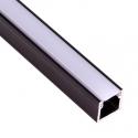 Profil Aluminium LINE 2m klosz mleczny- profil czarny
